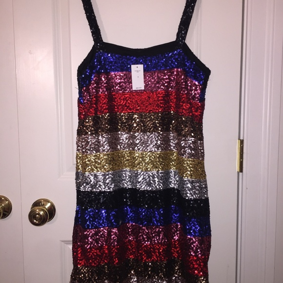 93379a8b GAP Dresses | Crazy Sequin Stripe Dress | Poshmark